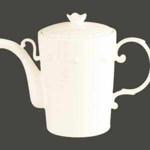 Konvice na kávu s víčkem - Princess White gold