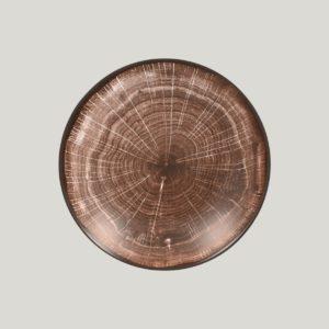 hluboký coupe talíř - tmavě hnědá Woodart
